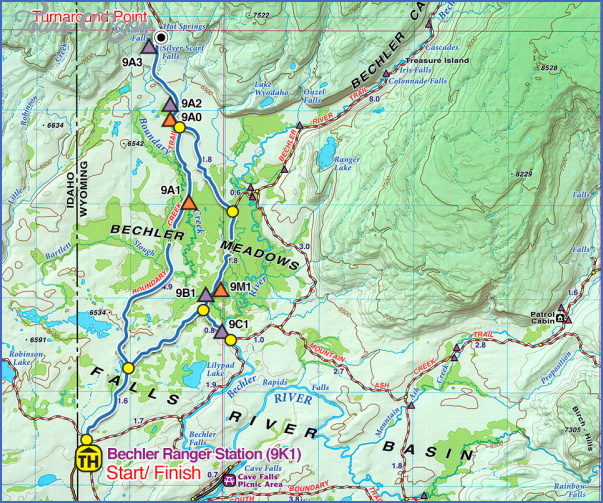 yellowstone hiking map 6 Yellowstone Hiking Map
