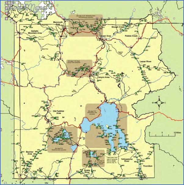 yellowstone hiking map 8 Yellowstone Hiking Map