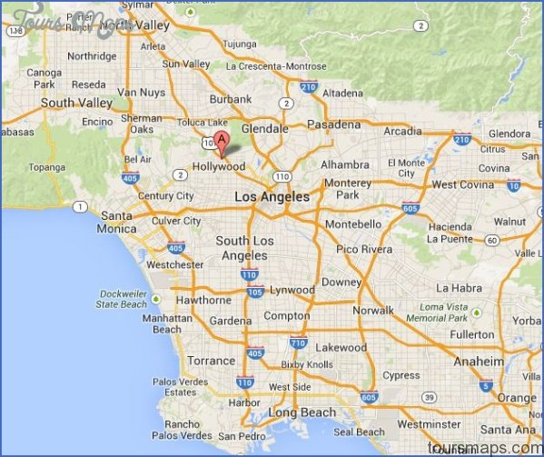 Hollywood California Map Hollywood, California Map   ToursMaps.® Hollywood California Map
