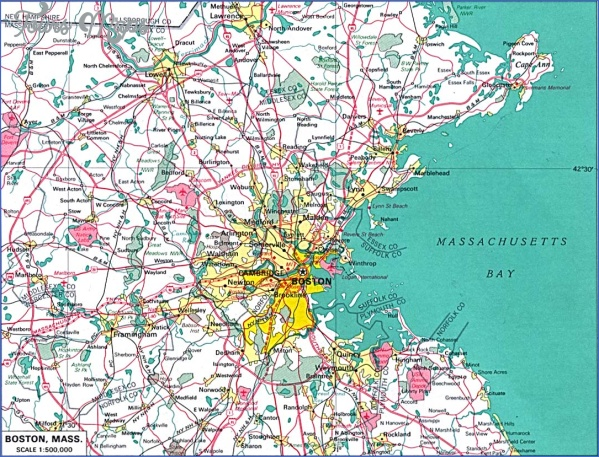 massachusetts map 6 Massachusetts Map