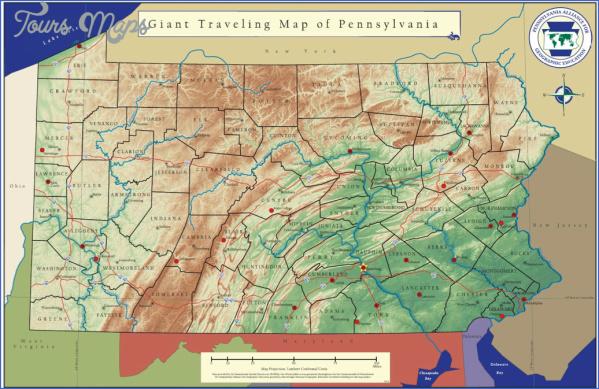 pennsylvania map 13 Pennsylvania Map