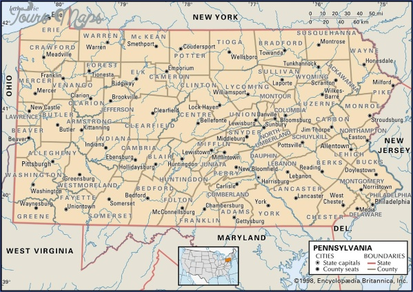 pennsylvania map 5 Pennsylvania Map