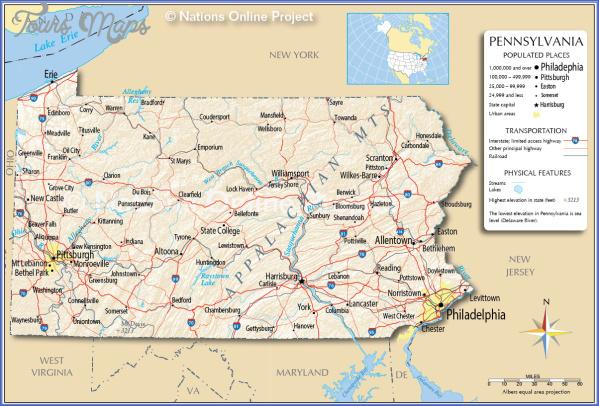 pennsylvania map 6 Pennsylvania Map