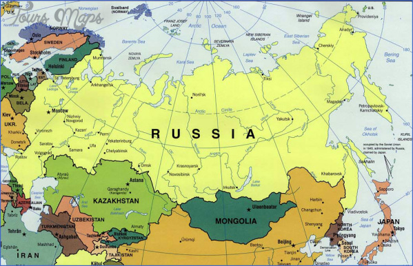 russia map 4 Russia Map
