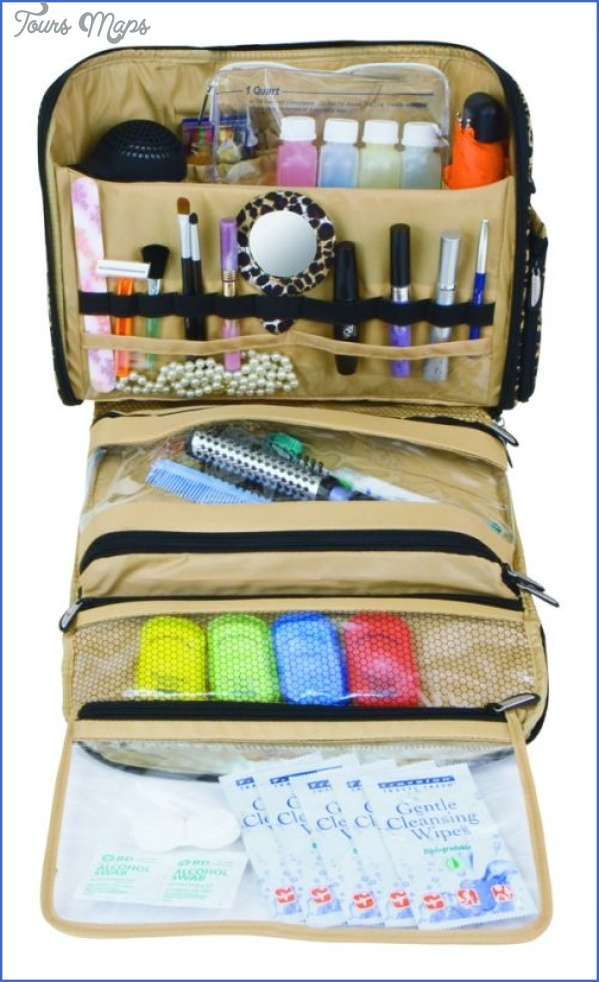 toiletry case packing for travel