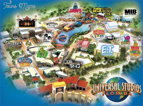 universal hollywood studios map 4 Universal Hollywood Studios Map