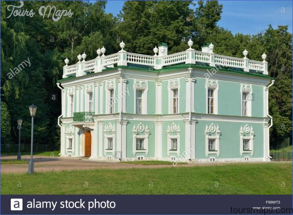 moscow italian house a small two story building light green color f99wt3 GOLOVANOV MUSEUM