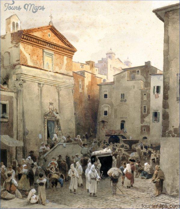 oswald achenbach   funeral in palestrina   google art project PALESTRINA MUSEUM