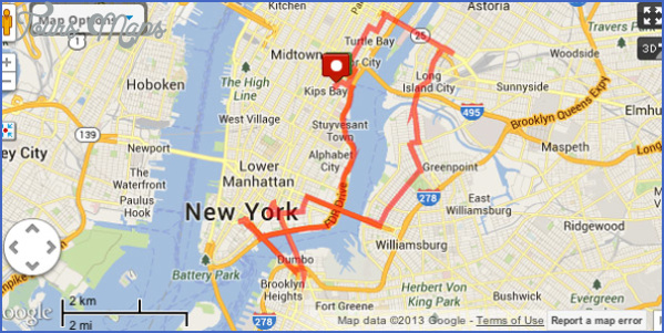 bridges running map GEORGE WASHINGTON BRIDGE MAP
