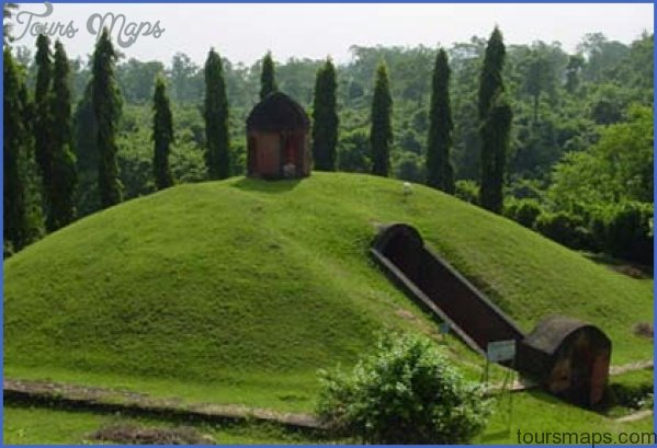burial vault ahom royalty Sightseeing and Tourism in Guwahati