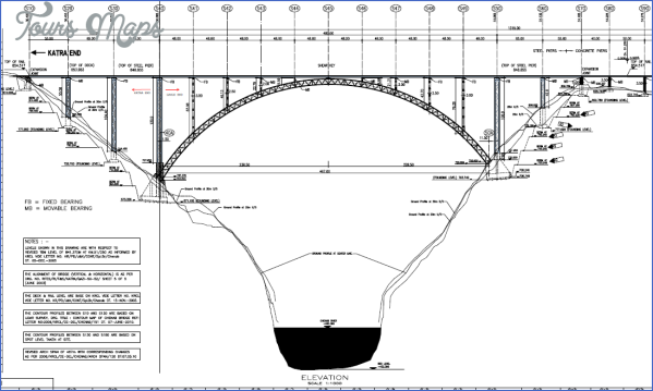 chenab bridge drawing CHENAB BRIDGE MAP