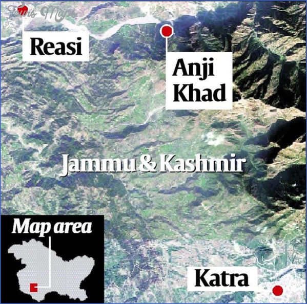 kashmir bridge CHENAB BRIDGE MAP