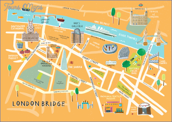 london bridge map orange background rgb 1000 1 LONDON BRIDGE MAP