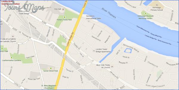 london bridge map LONDON BRIDGE MAP