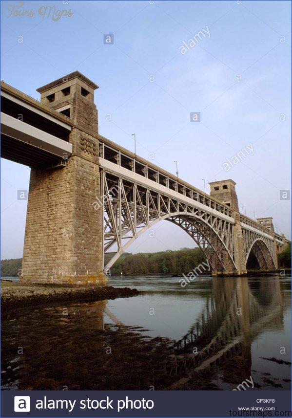 looking se at the britannia bridge a railway bridge designed by robert cf3kf8 BRITANNIA BRIDGE MAP