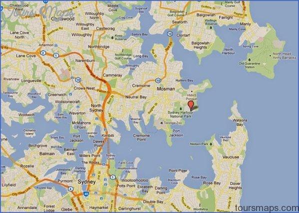Map Of Sydney Harbour SYDNEY HARBOUR BRIDGE MAP   ToursMaps.®
