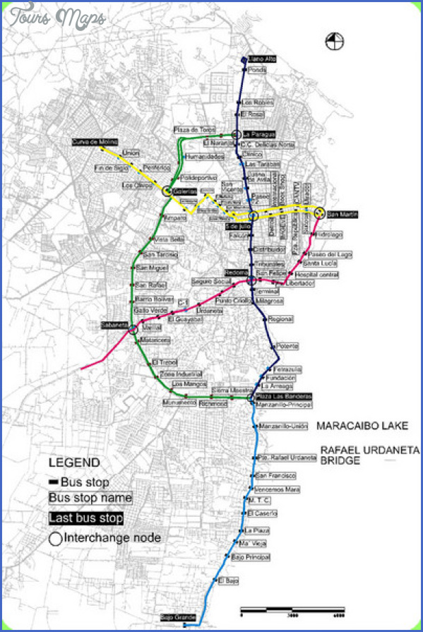 maracaibo bus map mediumthumb LAKE MARACAIBO BRIDGE MAP