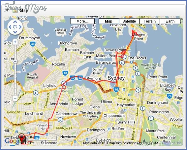 petersham milsons point map SYDNEY HARBOUR BRIDGE MAP
