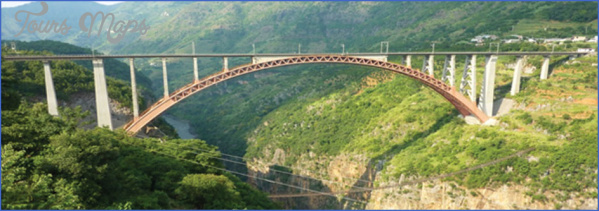rail bridge across chenab river CHENAB BRIDGE MAP
