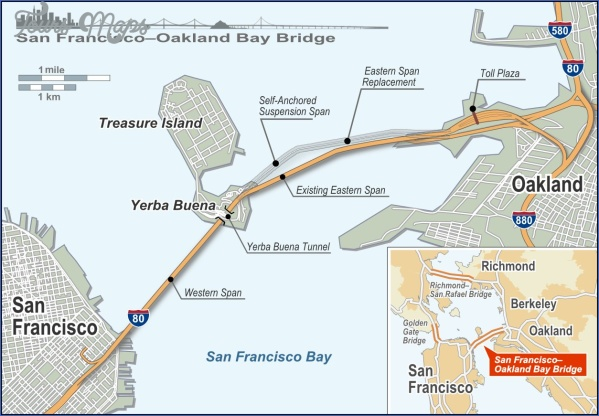 sfobb map en EAST SPAN, BAY BRIDGE MAP