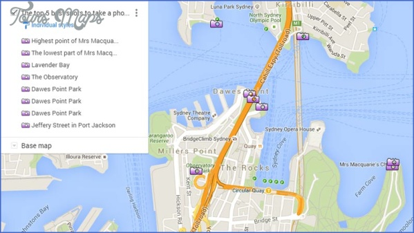 sydney harbour bridge map 0 SYDNEY HARBOUR BRIDGE MAP