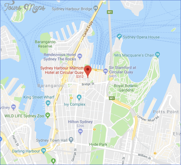sydney harbour marriott map SYDNEY HARBOUR BRIDGE MAP