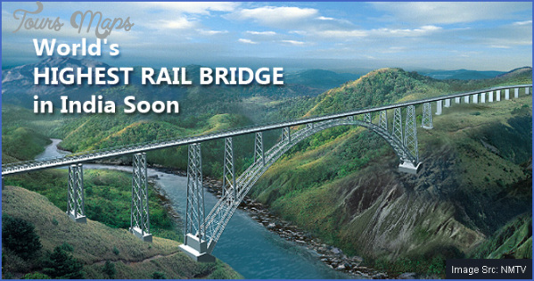 worlds highest railway bridge CHENAB BRIDGE MAP