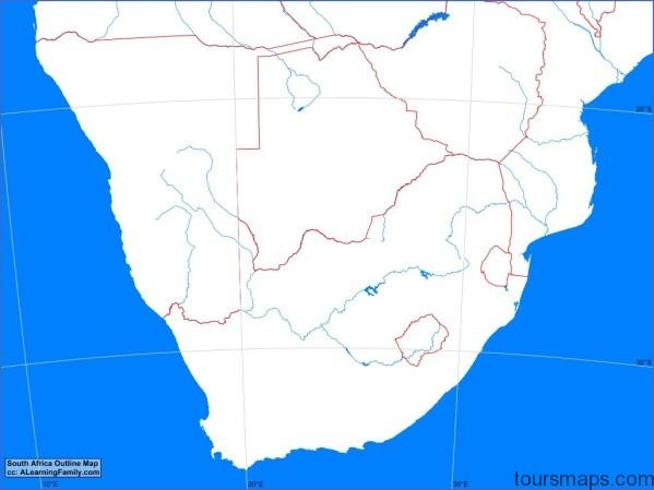 africasouthoutline 1 Map of South Africa
