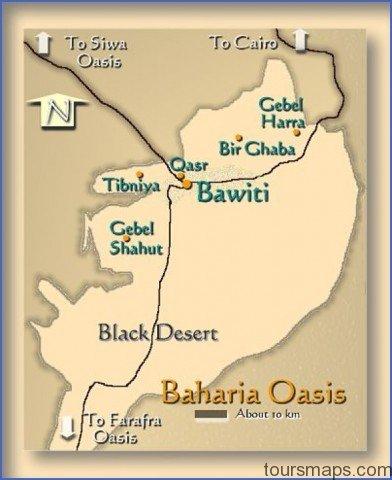 bahariya oasis map Map of Oasis