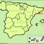 barcelona location on the spain map 150x150 Map of Barcelona Spain