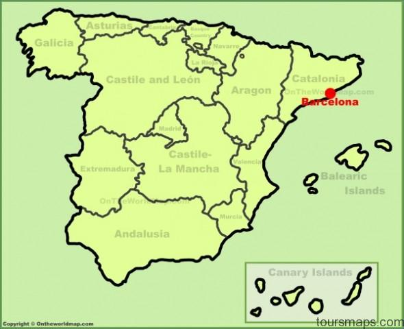 barcelona location on the spain map Map of Barcelona Spain