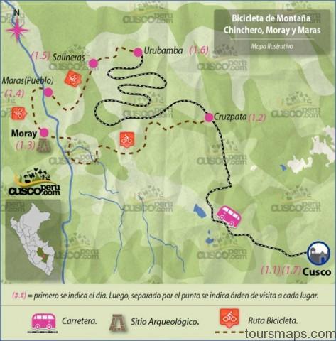 bicicleta de montac3b1a chinchero moray y maras 1d Map of Maras Peru