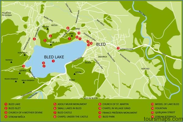 bled map Map of Bled Slovenia