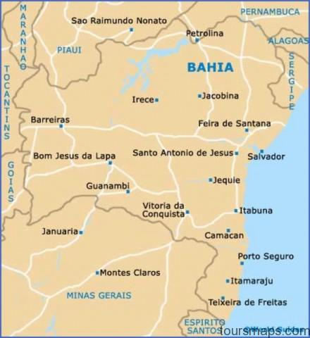 brazil bahia map Map of Salvador Brazil