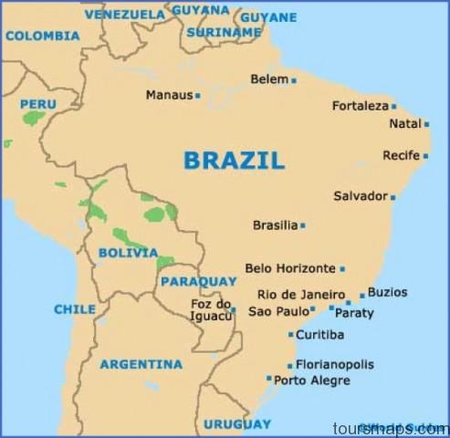 brazil map Sao Paulo Brazil Map