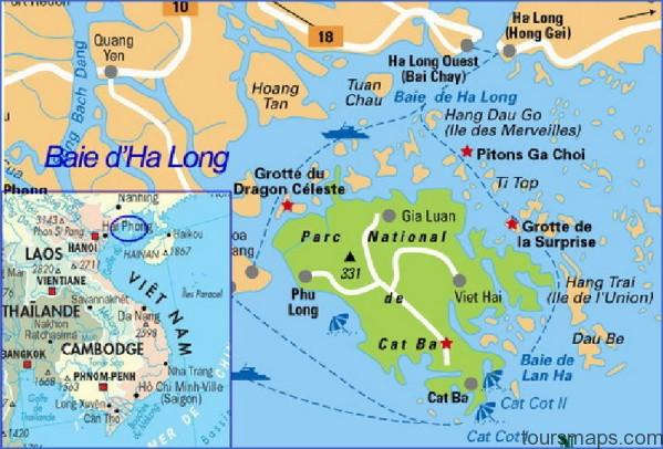 cat ba travel map Map of Halong Bay Vietnam