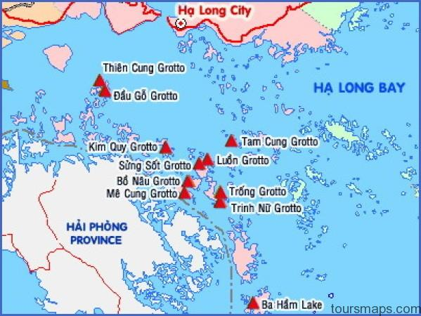 cavemap Map of Halong Bay Vietnam