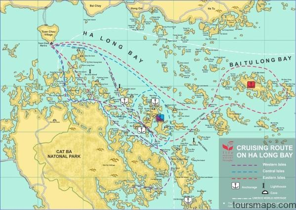 cruisemap Map of Halong Bay Vietnam