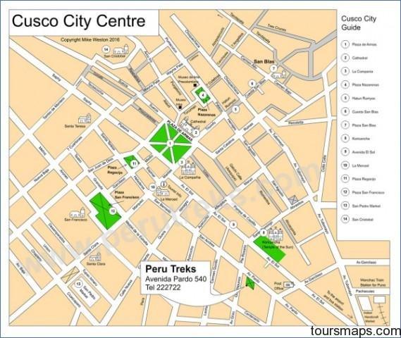 cusco city map crcu003d3917124910 Map of Cusco Peru