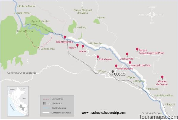 cusco tours 5 days map Map of Maras Peru