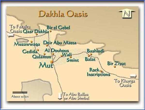 dakhlabakmap Map of Oasis