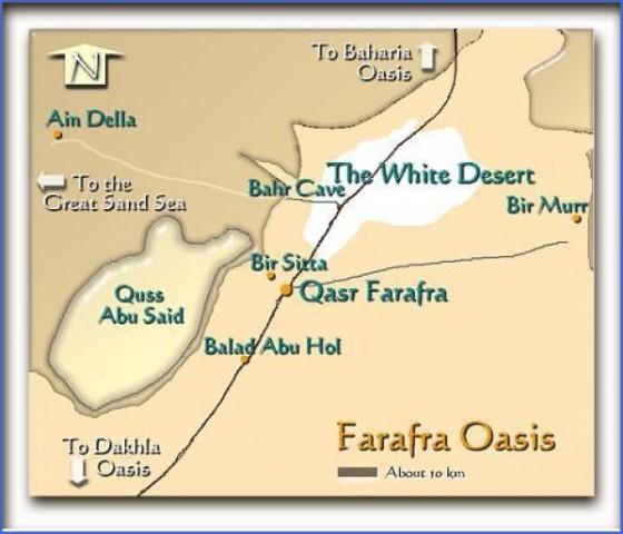 farafrabakmap Map of Oasis