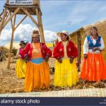floating islands lake titicaca puno peru local women in colourful eyawwt 150x150 PUNO PERU   Man Made Islands
