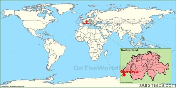 geneva on the world map Map of SWITZERLAND Geneva