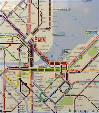 geneva public transport map center Map of SWITZERLAND Geneva