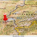 geneva switzerland pinned on a map of europe h4j22w 150x150 Map of SWITZERLAND Geneva