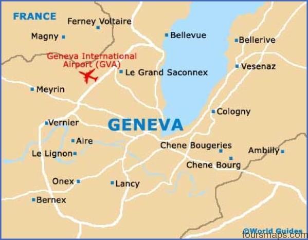 geneva map1 Map of SWITZERLAND Geneva