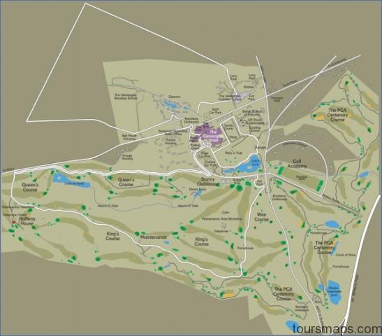 gleeaglesmap 1455 Map of Gleneagles Scotland