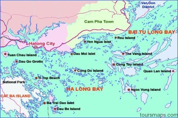 halong bay islands map Map of Halong Bay Vietnam