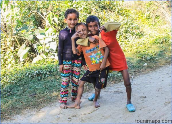 happy kids in bardia nepal AWKWARD TRAVEL STORIES